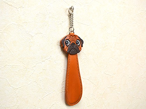 MOPS HUND Schuh Horn Echt 3D Leder Artikel Vanca CRAFT Made in Japan