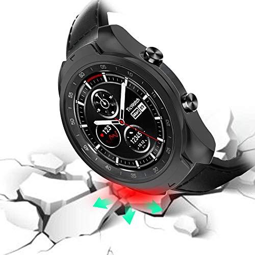 Slim Fit Funda Protectora Ultra Liviana de TPU Cubierta de Parachoques para Ticwatch Pro Smartwatch Negro KTcos Compatible con Ticwatch Pro Funda