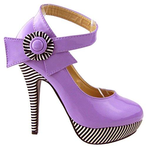 Show Story , Bride de cheville femme Violet - violet