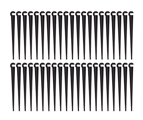 UCLEVER Micro Drip Rohrhalter Stützhalter Leitungshalter Gartenschlauch-Erdanker Befestigungsanker für Gartenbewässerung, 100 Stück