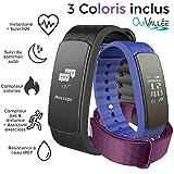 Bracelet connecté - OuiVallée MyPulse - Marque Française - Capteur Cardiaque Podomètre Sommeil Bluetooth 4.0 - Tracker Activité physique
