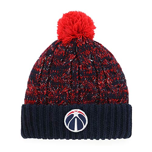 OTS NBA Washington Wizards Women's Brilyn Cuff Knit Cap with Pom, Team Color, Women's