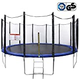 AMDirect Gartentrampolin Jumper Trampolin mit Netz TUV / GS / CE Zertifiziert 366/427/457 CM (427 CM)