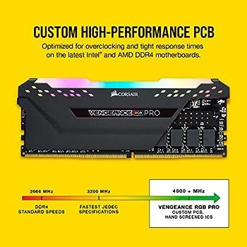 Corsair Vengeance RGBPRO32GB (4x8GB) Ddr43200(Pc4-25600)C16Desktop Memory - Black