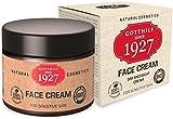 Gotthilf 1927 Face Cream-Crema Viso Giorno e Notte -Anti Età -Fonte 100% Naturale dell'Acido Ialuronico -Olio di Semi di Broccoli - Idratazione Cutanea -Vegano-Certificato -50 ml-Fatto in Germania