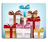 luxlady Gaming Mousepad-ID: 41545428Realistische 3D-Kollektion der bunten Muster Geschenkkarton mit Schleife