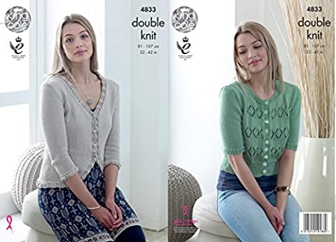 King Cole 4833 Knitting Pattern Womens Cardigans in King Cole Smooth DK