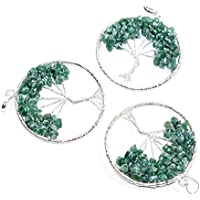 Pendant Green Jade 2-2.5 inch +7 CHAKRA TUMBLE Necklace Handmade Chakra Gemstone Jewelry Healing Crystal. preisvergleich bei billige-tabletten.eu