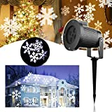 Projecteur Noël LED Extérieur - VIDEN Projecteur de Lumière à LED avec Flocon de...