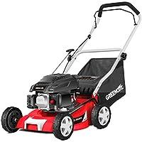Greencut GLM680SX Cortacésped Tracción Manual, Motor Gasolina, 3677 W, Rojo, 40 cm, 139 CC, 5 CV