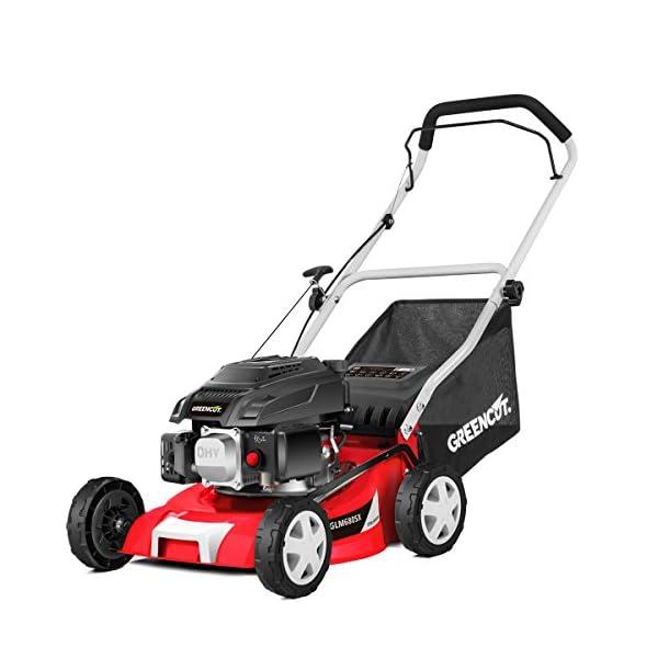 Greencut-GLM680SX-Tosaerba-a-trazione-manuale-con-motore-a-benzina-colore-rosso-40-cm-139-cc-5-CV