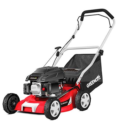 GREENCUT glm680sx Rasenmäher Antrieb manuell, Motor Benzin, rot, 40cm, 139cc, 5CV