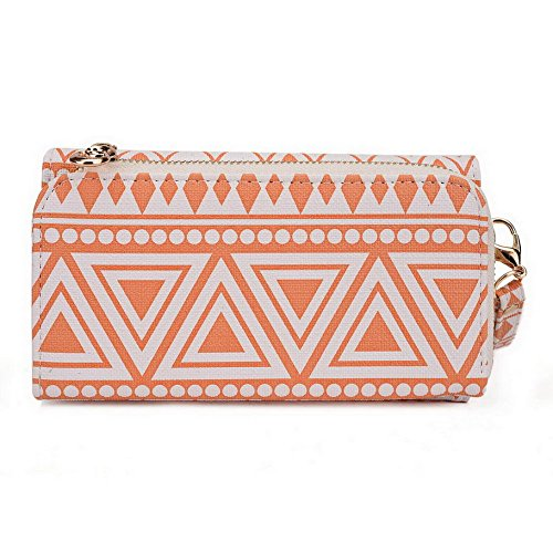 Kroo Pochette/étui style tribal urbain pour Yota YotaPhone 2 Multicolore - bleu marine Multicolore - White and Orange