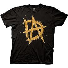 FDYM WWE Dean Ambrose Orange Logo Unstable Mens Black T-shirt