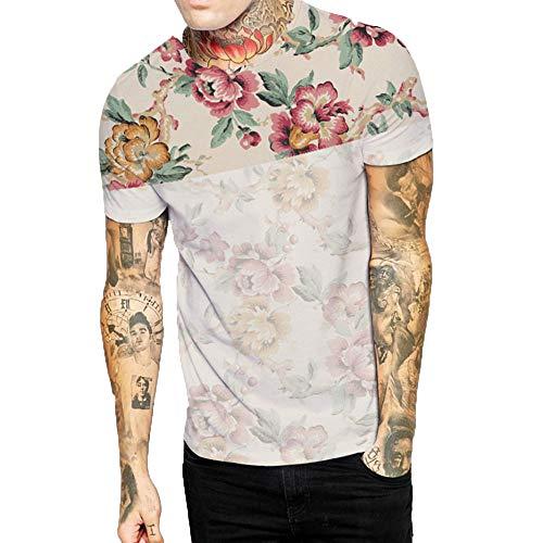 Polyester-walking Shorts (Oliviavan Herren T- Shirt Sommer Casual Ripped Hole Männer Printed T-shirt O-Neck Pullover Kurz Mode T-Shirt Sweatshirt muskulöser Mann T-Shirt Atmungsaktiv Bequem Shirts)