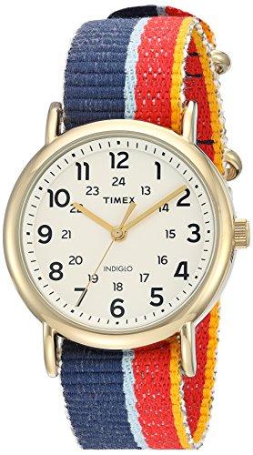 Timex Herren-Armbanduhr 38mm Armband Textil Gehäuse Messing Quarz TW2R10100 (Womens Watch Gold Timex)