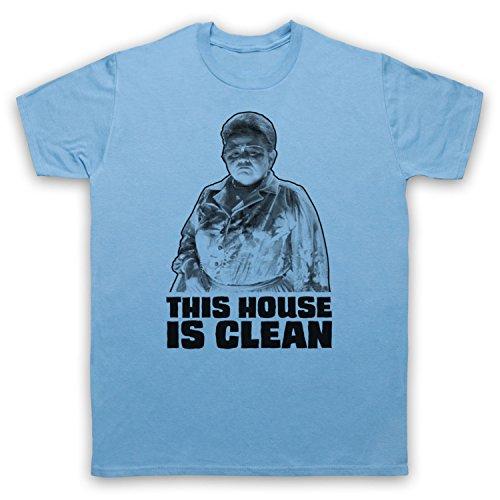 Inspiriert durch Poltergeist This House Is Clean Unofficial Herren T-Shirt Hellblau