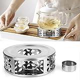 Stövchen, Ubegood Teewärmer Tee-Stövchen Kaffeewärmer aus Edelstahl Durchmesser 15 cm, Höhe 5 cm