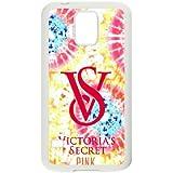 Samsung Galaxy S5 Case Cover White Victoria Secret Pink Custom Cell Phone Case 25P568399