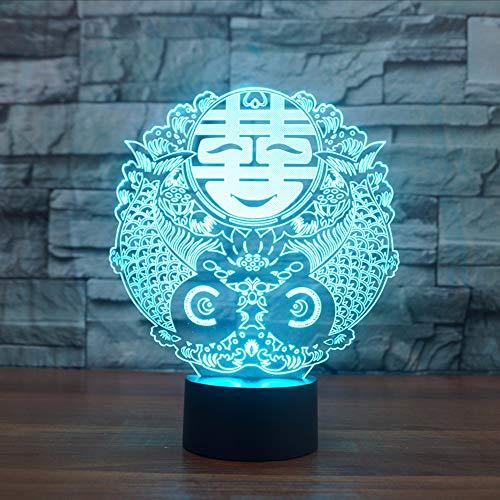 (Dwthh 7 Farben Ändern Neuheiten Usb Doppel Glück Tabelle Leuchtende Chinesische Hochzeit Zeichen Dekor Led Schlaf Nachtlichter Schlafzimmer Dekor Geschenke)