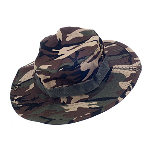 Generic Imported Mens Camo Military Boonie Cap Sun Bucket Brim Army Fishing Hiking Hat #7  available at amazon for Rs.540