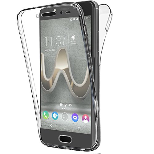 Buyus Coque Wiko Ufeel Prime Gel 360 Degres Protection Integral Anti Choc, Etui Ultra Mince Transparent Invisible pour Wiko U Feel Prime Uniquement (Non Compatible UFEEL et UFEEL Lite)