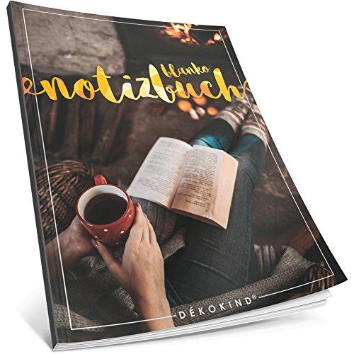 Dékokind® Blanko Notizbuch: Ca. A4-Format • 100 Seiten mit Inhaltsverzeichnis • Perfekt als Zeichenbuch, Sketchbook oder Malbuch für Erwachsene • ArtNr. 45 Gemütlich • Softcover