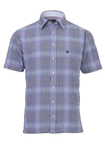 Hatico -  Camicia Casual  - Uomo Karo Mittelblau