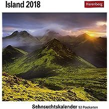 Island - Kalender 2018: Sehnsuchtskalender, 53 Postkarten