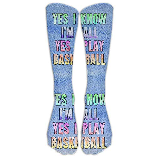 Kotdeqay Yes I Know I'm Tall Basketball Player Casual Unisex Sock Knee Long High Socks Sport Athletic Crew Socks One Size (Online Target Store)