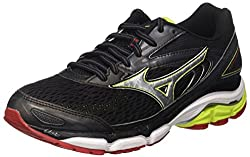 Mizuno Men's Wave Inspire Running Shoes, Multicolor (Blacksilverlimepunch), 9.5 Uk