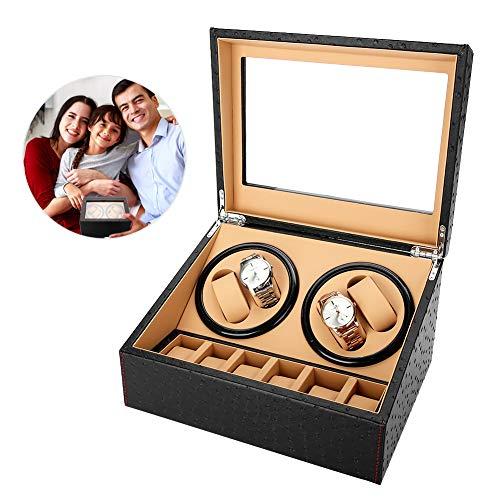 Orologio shaker, rotazione automatica orologi Furling box, contenitore custodia organizer per display e orologi, 4+ 6griglie, 1.00V
