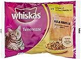 Whiskas Tenerezze, Cibo per Gatti, Selezione Carni Bianche in Gelatina - 4 pezzi da 85 g [340 g]