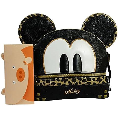 Disney Mickey Minimal Borsa per Bambina Ragazza a Spalla Tempo Libero