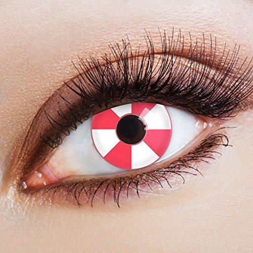 n Farbige Kontaktlinse Candy Shop   - Deckende Jahreslinsen für dunkle und helle Augenfarben ohne Stärke, Farblinsen für Karneval, Fasching, Motto-Partys und Halloween Kostüme ()