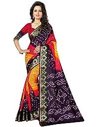 KRISHNA ENTERPRISE.. Silk Saree With Blouse Piece(BANDHANI_Multi_Free Size)