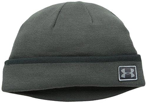 Under Armour 2015 ColdGear Infrared Cuff Sideline Beanie Mens Golf Winter Hat Graphite