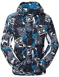 NEWISTAR Chaquetas de Nieve para Hombre con Capucha Desmontable Bluish Grey Snowproof a Prueba de Viento Transpirable Niños…