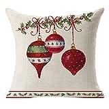 Weihnachten Kissenbezug, Vovotrade Weihnachtsbaum, Weihnachtssocke Muster Kissenhülle Leinen Kissenbezug dekorative Haushalt Wohnen Heimtextilien Bettwaren Sofa Home Decor