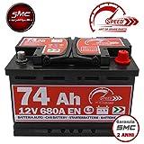 Speed by SMC - L3 - Autobatterie 74Ah 12V 680A mit Pluspol rechts
