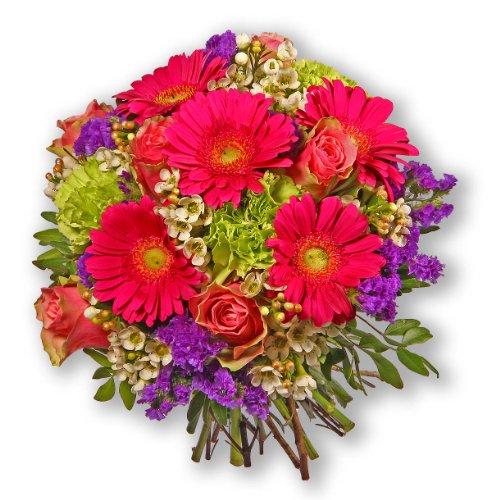 """floristikvergleich.de Blumenstrauß Blumenversand """"Think pink!"""" +Gratis Grußkarte+Wunschtermin+Frischhaltemittel+Geschenkverpackung"""