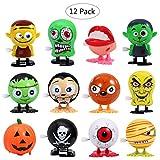 BESTOYARD 12 STÜCKE Wind up Spielzeug Halloween Goody Tasche Assorted Springen Wind up Spielzeug Mini Spielzeug Vorschule Spielzeug Für Kinder Geschenk Pack