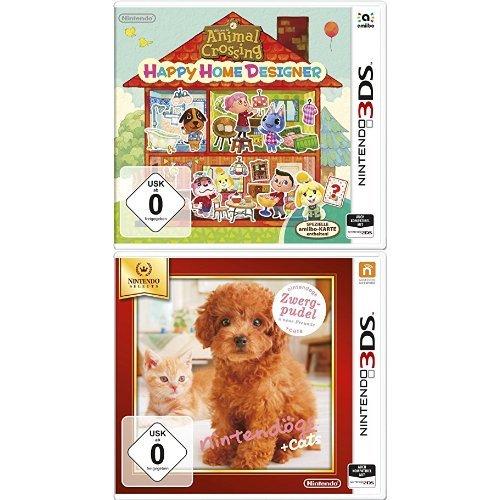Animal Crossing: Happy Home Designer + Nintendogs + Cats: Zwergpudel & Neue Freunde - Nintendo Selects