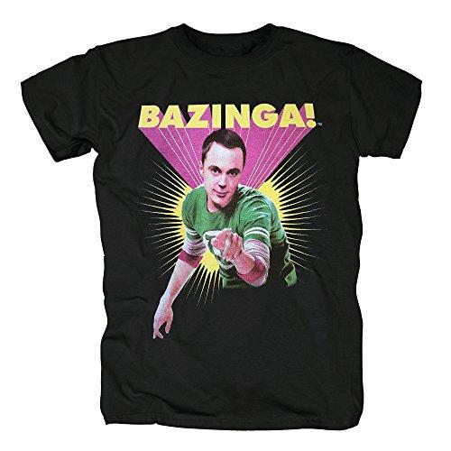 TSP The Big Bang Theory - Sheldon Bazinga T-Shirt Herren S Schwarz