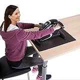 maxvitalis Elektro Mini Bike Arm- und Beintrainer Pedaltrainer Bewegungstrainer mit Trainingsdisplay Massage-Handgriffe Schwarz/Silber - 5