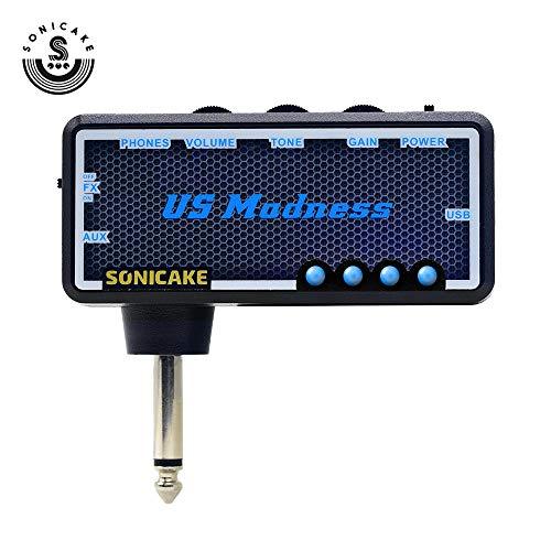 SONICAKE Gitarren-Bass-Kopfhörer-Verstärker-Plug-In US Madness mit Chorus & Reverb-Effekten & Vintage Clean Tone