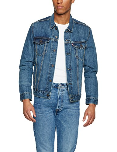 ' Levi S Jeans Slim Fit (Levi's Herren Jeansjacke the Trucker Jacket Blau/the Shelf 0136, Small)