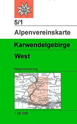 Karwendelgebirge - Westliches Blatt: Topographische Karte 1:25.000 (Alpenvereinskarten)