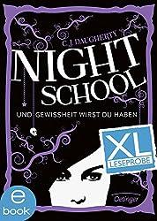 Night School 5. XL Leseprobe: Und Gewissheit wirst du haben (German Edition)