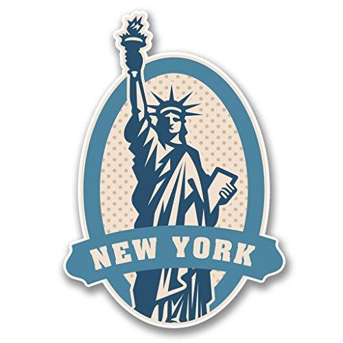Preisvergleich Produktbild 2 x 10cm / 100mm New York USA Freiheitsstatue Vinyl SELBSTKLEBENDE STICKER Aufkleber Laptop reisen Gepäckwagen iPad Zeichen Spaß 6397